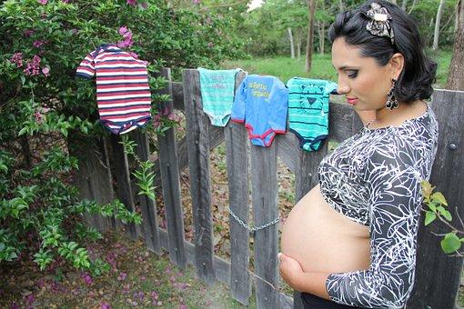 Pregnancy, Pregnant Woman, Pregnant, Green, Grass