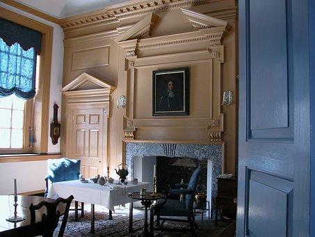 Colonial Room, Philadelphia, Congress, Blue, House