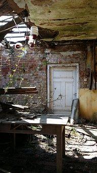 Room, Cottage, House, Crash, Old Cottage, Abandoned