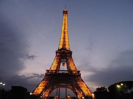 Paris, France, Landmark, Places Of Interest, Tower