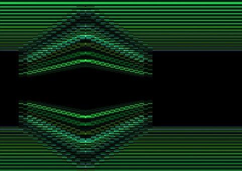 Cube, Digital, Matrix, Green, Computer Game, Retro, 3d