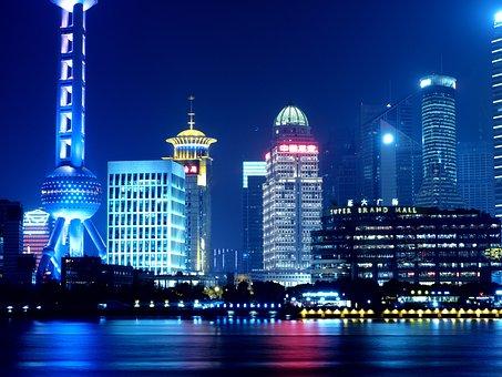 Shanghai, Oriental Pearl Tv Tower, Night View