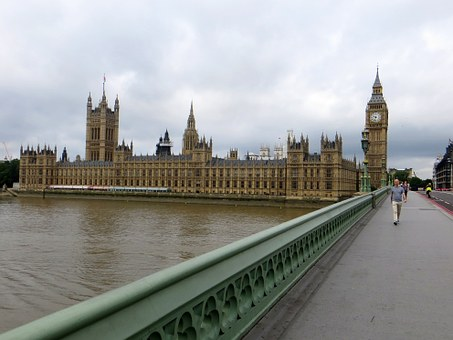 Palace, Westminster, Bridge, City, London, England
