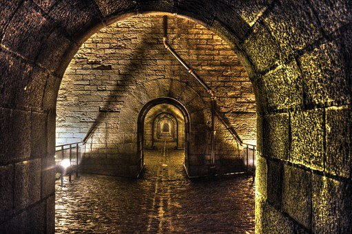 Passage, Path, Arches, Old, Former, Heritage