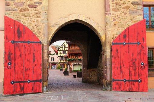 Portal, Stone Portal, City Wall, City Gate, Old Town