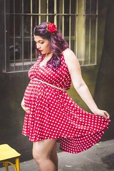 Pregnant Woman, Pregnant, Pregnancy, Vintage Pregnant
