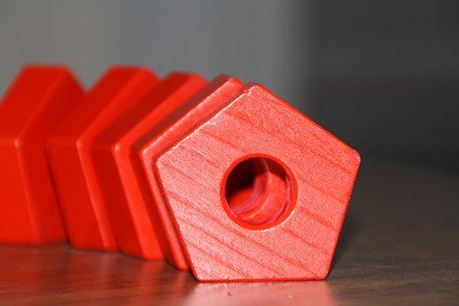 Pentagon, Puzzle, Red, Challenge, Design, Solution