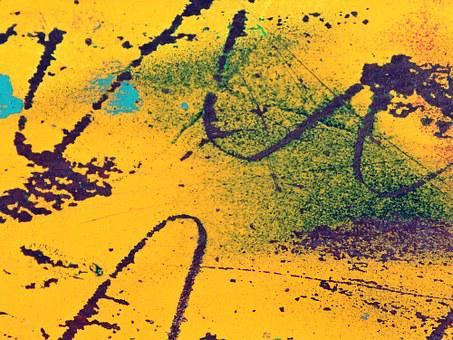 Background, Yellow, Rust, Wave, Scratches, Abstract