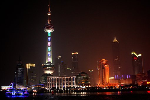 People's Republic Of China, Shanghai, Night View, River