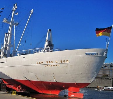 Cap San Diego, Ship Rear, Hamburg Museum Ship
