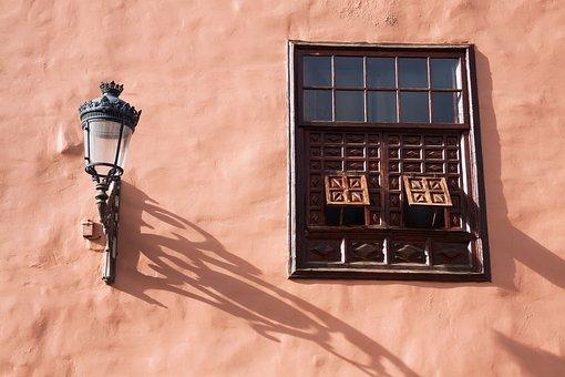 Lamp, Street Lighting, Window, Shutter, Typical, Old