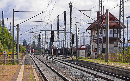 Railway Line, Route, Railway Station, Exit, Signals