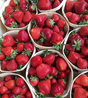 Strawberries, Strawberry, Strawberries In Basket