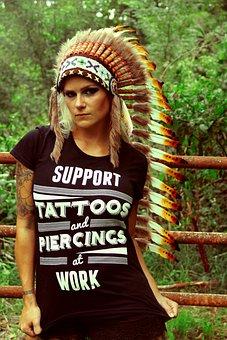 Tattoo, Piercing, Nose Ring, Tattooed, Alternative
