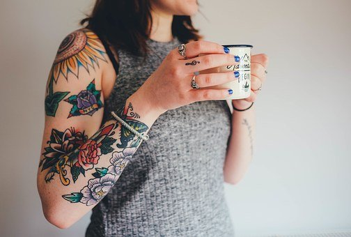 Tattoos, Tattooing, Arm, Skin, Flower Tattoos, Woman