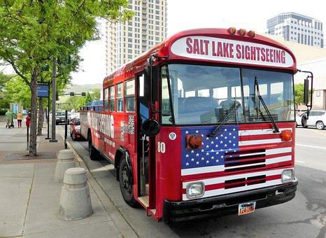 Transport, Tourism, Bus, Salt Lake City, Holiday