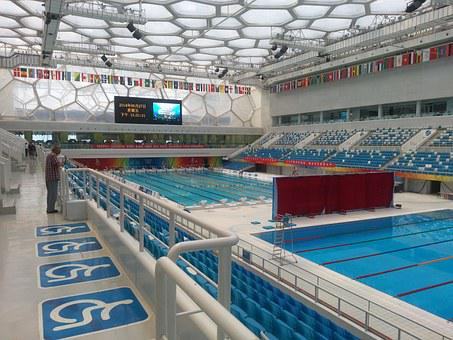 Water Cube, Swimming Pool, China, Olympics