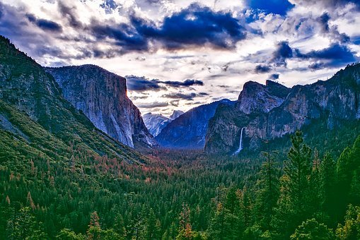 Yosemite, National Park, California, Valley, Landscape