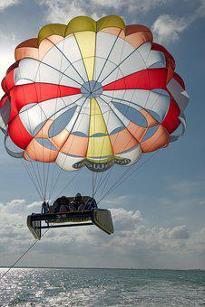 Parasol, Parachute, Activities, Sky, Summer, Sea