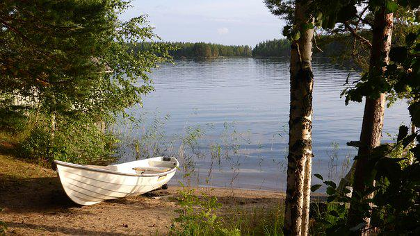 Finland, Nature, Landscape, Silent, Lake, Boats