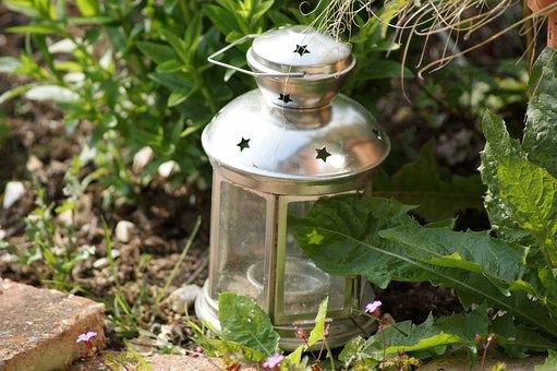 Garden, Lamp, Candle, Lantern, Nature, Outdoor, Light