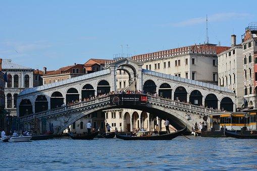 Italia, Venice, Bridge, Channel, Sights, Marco
