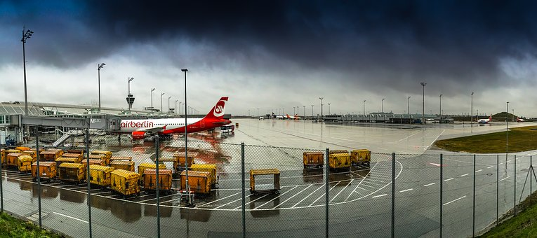 Munich Airport, Airberlin, Airbus, Aircraft, Departure