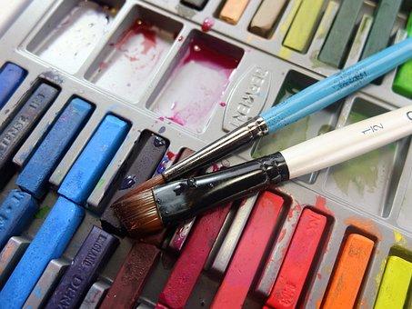 Inktense Blocks, Derwent, Brushes, Ink, Paint, Colour