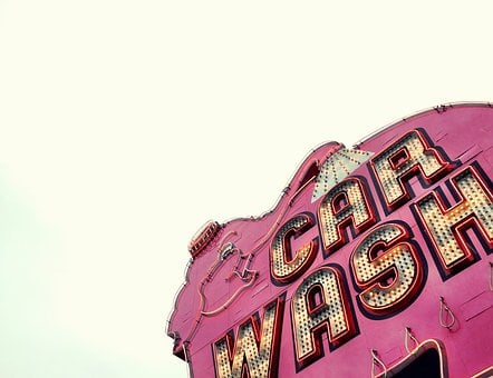 Elephant, Car Wash, Sign, Signage, Pink, Pink Elephant