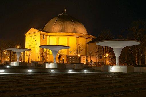 Darmstadt, Hesse, Germany, St Louis, Night