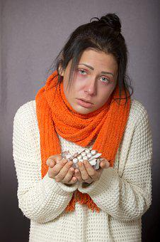 The Common Cold, Girl, Patient, Scarf, Weary, Red Eyes