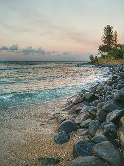 Australia, Queensland, Burleigh, Gold Coast, Beach