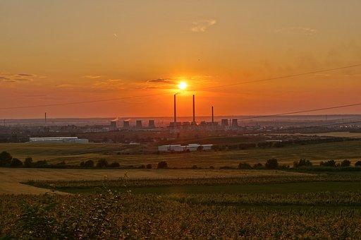 Ruse, Chimneys, Tolpofikatsiya, Sunset, Industrial Zone