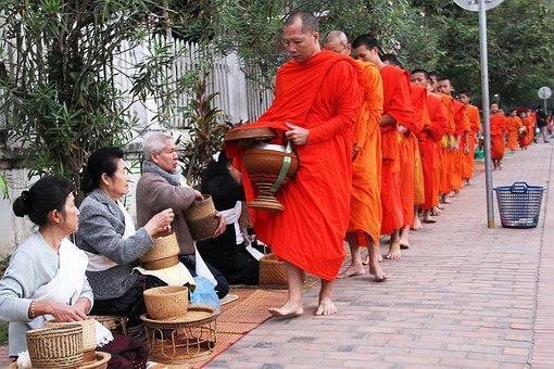 Luang Prabang, Laos, Unesco Heritage, City, Alms-giving