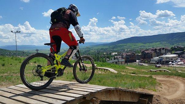 Mountain Biking, Downhill Mountain Biking, Bicycle