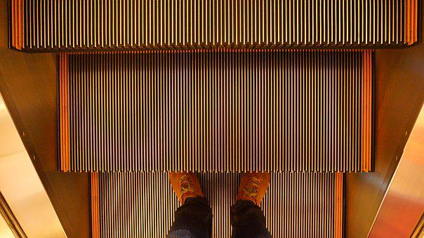 Escalator, Staircase, Moving, Stairway, Mall, Elevator