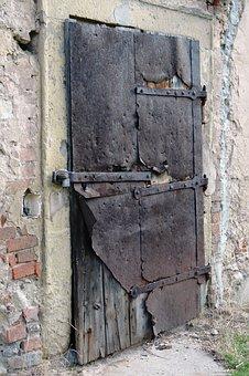 Door, Sheet, Castle, Old, Stone