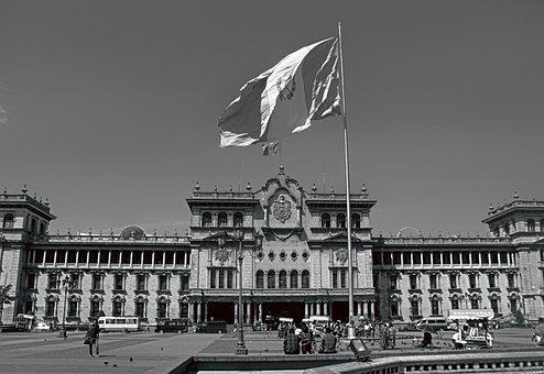 Palace, Guatemala, City, Vintage, Old, Central, Photo