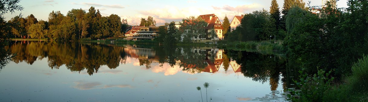 Bad Waldsee, Stadtsee, Panorama