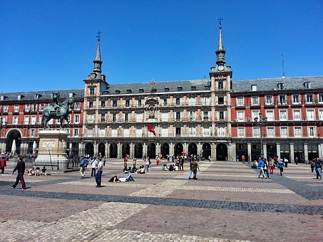 Plaza Major, Madrid, Spain, Places Of Interest, Human