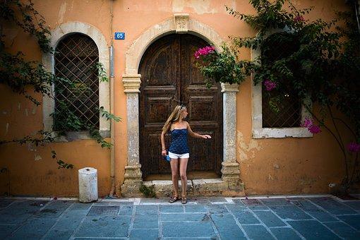 Greece, Crete, Rethymno, Old Town, Summer, Nature, City
