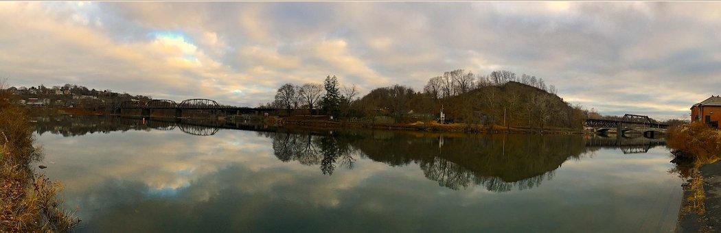 Delaware Canal, Water, Canal, Delaware, River, Bridge