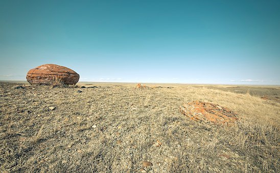 Country, Rock, Red Rock, Field, Minimal, Zen