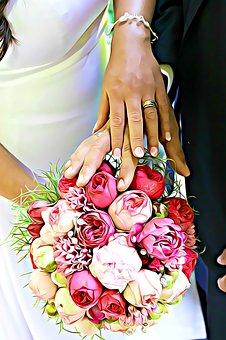 Wedding, Bouquet, Bride, Cut Flowers, Plant, Rose