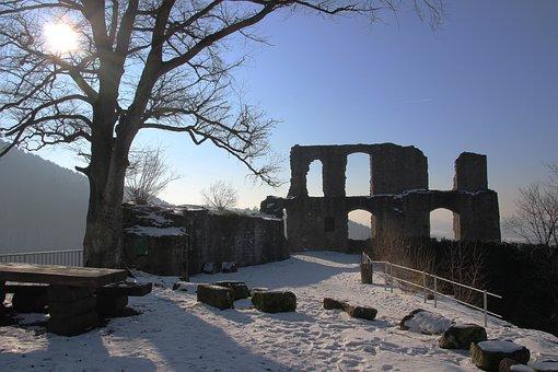 Castle, Ruin, Middle Ages, Falkenstein, Building