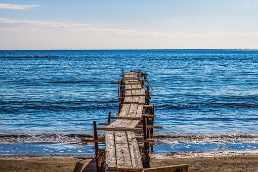 Jetty, Dock, Pier, Beach, Sea, Scenic, Water, Clear