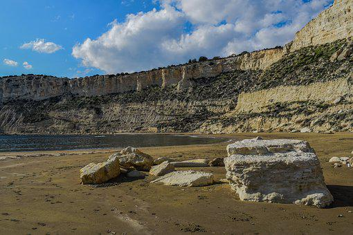 Beach, Cliffs, Sea, Landscape, Scenic, Scenery
