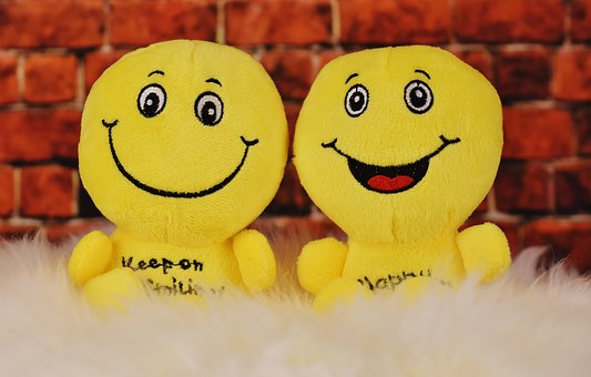 Happy, Smilies, Plush Toys, Cute, Funny, Cheerful