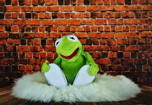 Kermit, Frog, Funny, Soft Toy, Stuffed Animal
