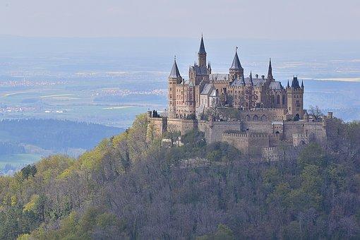 Castle, Mountain, Schlos, Burg Ehrenberg, Summer